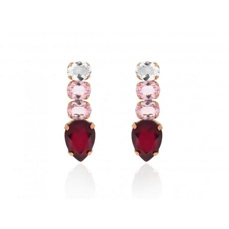 Rose Gold Silver Swarovski® Drop Earrings