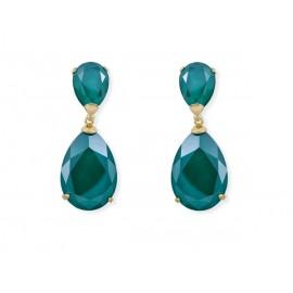 Gold Plated Silver Swarovski® Drop Earrings