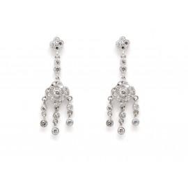 Vintage Style Sterling Silver Earrings