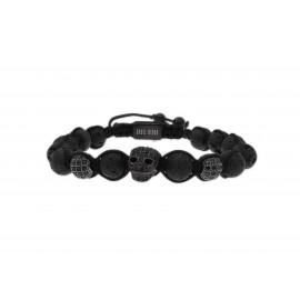 SKULL RIDER Lava and Zirconia Bracelet