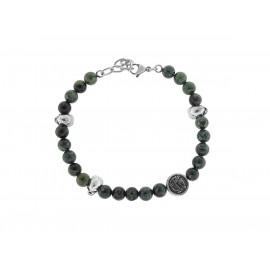 SKULL RIDER Green Riolite Bracelet