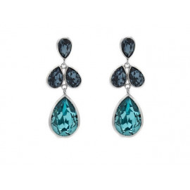 Rhodium Silver Swarovski Drop Earrings A3142-1T
