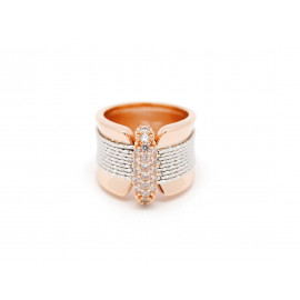 FRABOSO Rose Gold Plated ZC Silver Ring