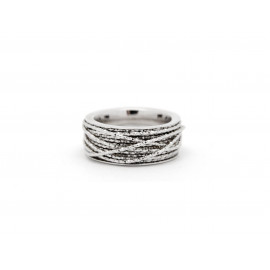 FRABOSO Rhodium Plated Silver Ring