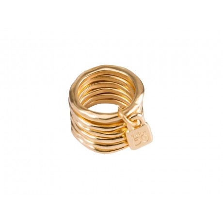 "UNO de 50 ""Prisoner"" Gold Ring ANI0057"