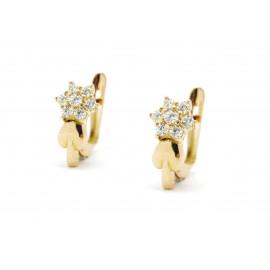 18k Gold ZC Earrings for Girls