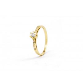 18k Gold ZC Flower Ring