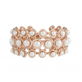 BRONZALLURE Multicircle Link with Button Pearls Bracelet WSBM00017W