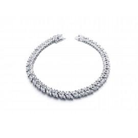Bridal Silver Bracelet with Zirconia