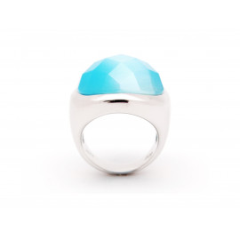 Blue Cat's Eye Silver Ring