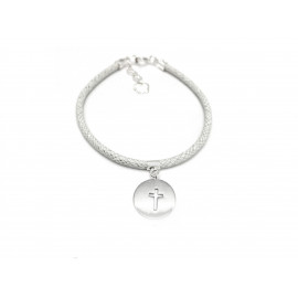 First Communion Silver Bracelet for Girls