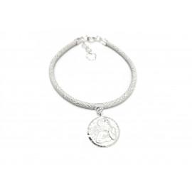 First Communion Silver Bracelet for Girls