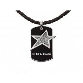 "Colgante POLICE ""Rock Star"" Acero"