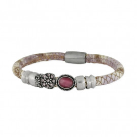 Women's LISKA Leather and Alloy Bracelet