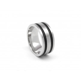ADOLFO DOMÍNGUEZ Stainless Steel Ring AD0110