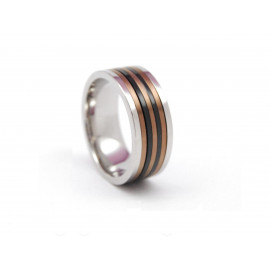 ADOLFO DOMÍNGUEZ Stainless Steel Ring AD0236