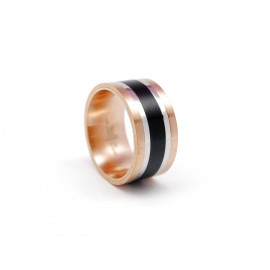 ADOLFO DOMÍNGUEZ Stainless Steel and Copper Ring AD0360