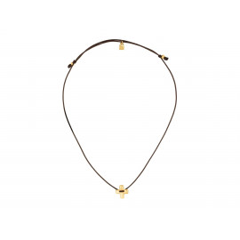 "UNO de 50 ""Crossed"" Gold Necklace COL0914"