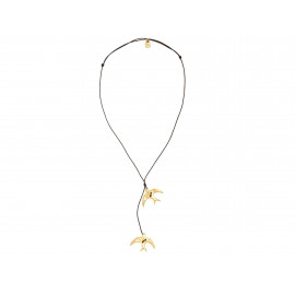 "UNO de 50 ""Tweet Tweet"" Gold Necklace COL0919"