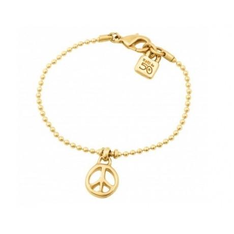 """UNO de 50 """"Peace"""" Gold Bracelet PUL1301"""