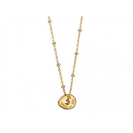 "UNO de 50 ""Speaking of the Devil"" Gold Necklace COL0981"