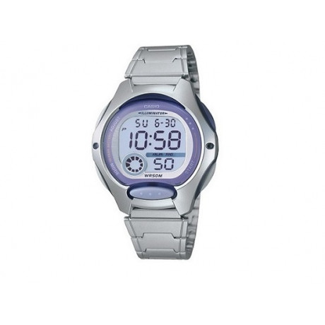 Girl's Lilac Bezel CASIO Digital Watch LW-200D
