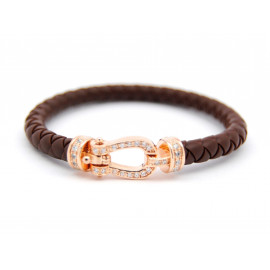Rose Gold Silver and Rubber Bracelet