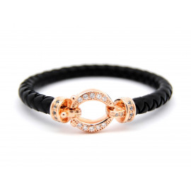 Rose Gold Silver Silicone Bracelet